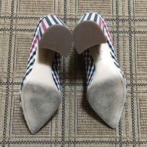Sam Edelman Shoes - Sam Edelman Halton Plaid Block Heel Pumps Heels